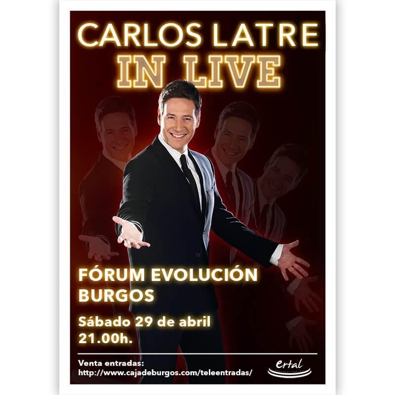 CARLOS LATRE IN LIVE. BURGOS. 29 de abril de 2017